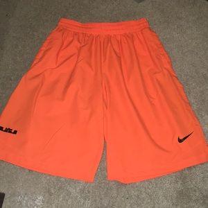 Nike Lebron dri fit shorts